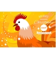 Rooster 2017 Chinese New Year greeting card vector image