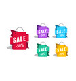 sale shopping bags as promotion tag with discount vector image vector image
