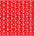 seamless abstract geometric pattern with red white vector image