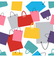 seamless pattern shopping bags and fashion vector image