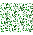 seamless texture with little green leaves for vector image vector image