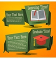 set cute back to school banners with text book vector image
