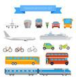 set different transportation vehicles vector image