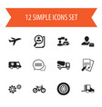 set of 12 editable complex icons includes symbols vector image vector image