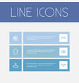 set of 6 editable shopping outline icons includes vector image