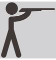 shooting icon vector image