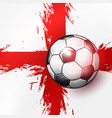 soccer ball on england flag abstract backgrounds vector image