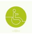 symbol man on wheelchair vector image