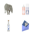 tapir cream and other web icon in cartoon style vector image vector image