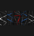 technology collection abstract modern cyber grid vector image
