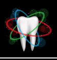 tooth is protected on dark background vector image vector image