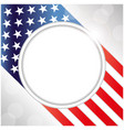 usa flag decorative card with clean space vector image vector image