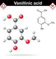 Vanillic acid molecule flavoring agent vector image vector image
