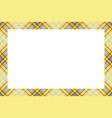 vintage frame scottish border pattern retro vector image vector image