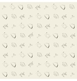wallpaper vintage retro seamless pattern vector image vector image