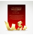 Card with gold ribbon and copy space vector image