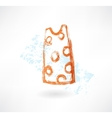 dress grunge icon vector image