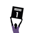 man holding sign of round vector image