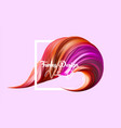 3d realistic brush stroke abstract digital vector image vector image