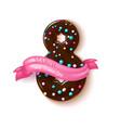 8 march doughnut women day holiday vector image vector image
