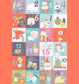 advent calendar with christmas decoration vector image vector image