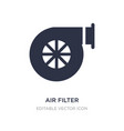 air filter icon on white background simple