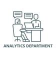 analytics department line icon analytics vector image vector image