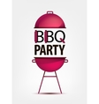 Barbecue BBQ party invitation with grill logo