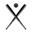 baseball bat and ball vector image