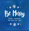 be merry happy new year and merry christmas text vector image vector image