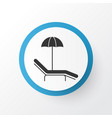beach icon symbol premium quality isolated relax vector image