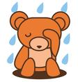 Bear Sad vector image