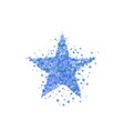 blue star burst starry pattern vector image vector image