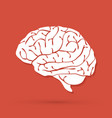 brain side view graphic vector image