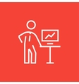 Business presentation line icon vector image