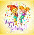 cartoon festive congratulatory template vector image vector image