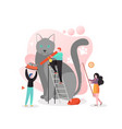 cat care concept for web banner website vector image