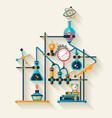 Chemistry laboratory vector image