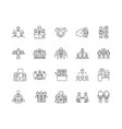 client concept line icons signs set vector image vector image