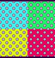 colorful football seamless patterns vector image vector image