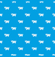 cute pig pattern seamless blue vector image vector image