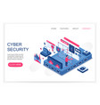 cyber security personal cloud data saving vector image vector image