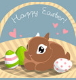 easter card with bunny vector image vector image