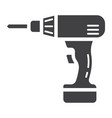 electric drill glyph icon build and repair vector image vector image