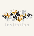 elegant gold and black butterfly composition vector image