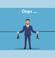 error page man holding unplugged cable vector image