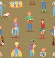 farmer people workers character agriculture vector image