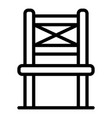 folding chair in front icon outline style vector image vector image