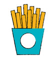 french fries potatoes icon vector image vector image