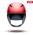 Front view of Classic red Ski helmet isolated on vector image vector image